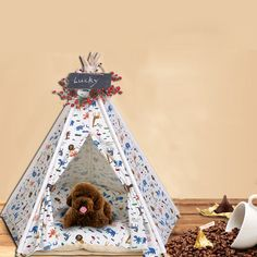 http://www.ebay.com/itm/New-Cat-pet-tent-home-Kennel-Teddy-washable-cotton-canvas-lion-pet-pet-supplies-/172603099072