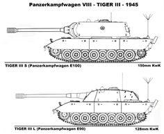 23-Panzer-Katzen: Ölçek büyüklüğü: E-90 vs E-100 (Kaplan III Ausf. L und Ausf. S)