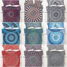 Indian Duvet Doona Cover Comforter Mandala Hippie Bohemian Queen Quilt Cover Set #Handmade #ArtDecoStyle