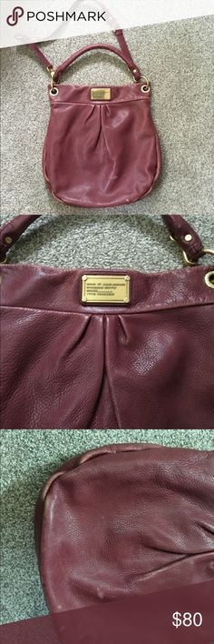 Marc by Marc Jacobs Purse Classic Hillier Port wine Marc by Marc Jacob's purse. Worn, but still beautiful! Marc By Marc Jacobs Bags Hobos