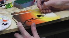 Beginners acrylic painting tutorial - Dawn Bird