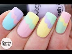 PRETTY PASTELS www.theteelieblog.com  Since Spring is all about vibrant colors, why not adapt the sweet and fun pastel hues?  This video   will teach you how to do a pastel clouds nail art. #TeelieBlog
