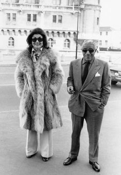 Aristotle Onassis, shipping tycoon, and Jackie Kennedy-Onassis ~ Law and Fashion -Criminal Intent-