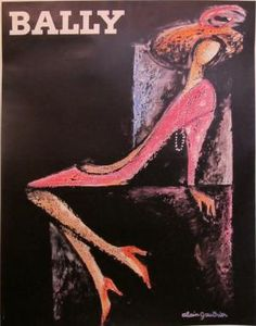 Vintage Poster: Bally (Shoe Woman)   Artist: Gauthier, Alain  Circa: 1970's  Origin: France  Buy It Here: http://www.la-belle-epoque.com/vintage-poster/Fashion/354/Bally—Shoe-Woman  We love Bally's 1970s poster series entitled Shoe Woman & Shoe Man, by Alain Gauthier. Bally is renowned for its abstract and impressionist style adverts. The Swiss company often ran sets of posters acting as a sort of stand alone collection along side the clothes. While most labels were using models to sell…
