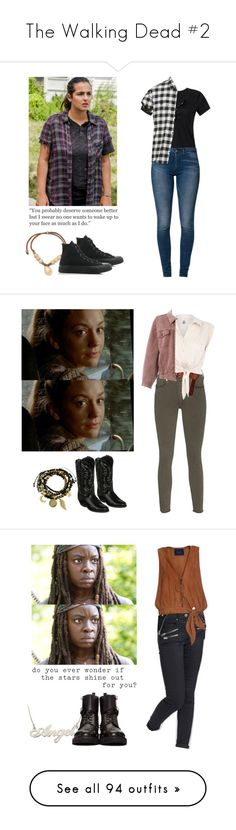 """""""The Walking Dead #2"""" by shadyannon ❤ liked on Polyvore featuring Levi's, R13, Converse, Essentia By Love Lily Rose, True Religion, Laredo, ASOS, H! by Henry Holland, Moschino and Topshop"""
