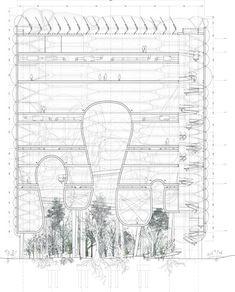 ideas for landscape design drawings architecture Landscape Architecture Design, Architecture Graphics, Architecture Drawings, Architecture Plan, Architecture Details, Chinese Architecture, Section Drawing, Architectural Section, Detailed Drawings
