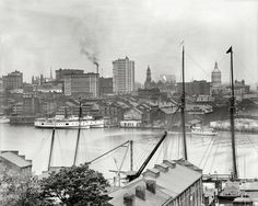"""Maryland circa 1905. """"Baltimore from Federal Hill."""""""
