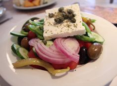 Mykonos Greece Food & Travel - My Kiki Cake - Xoriatiki Salata Greek Salad at Nammos Psarou