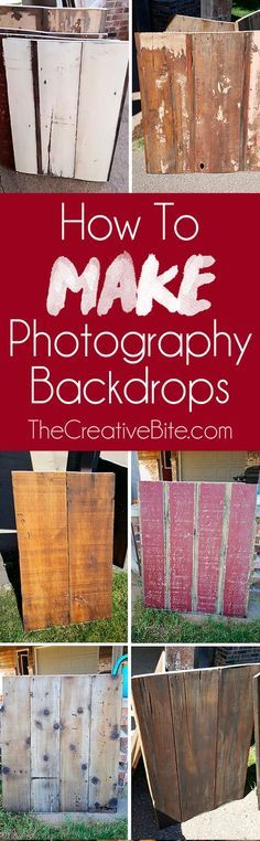 Learn How to Make DIY Wooden Photography Backdrops for your food or product photos. These dual sided photography backgrounds are an affordable option made from salvaged barn wood that look beautiful and resist stains. #Photography #Backdrop