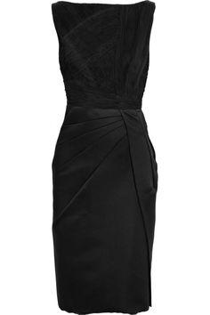 VALENTINO  Pleated silk shift dress