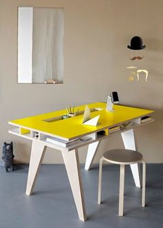 Functional lovely yellow table