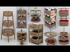 Sisal, Jute Crafts, Storage Organization, Recycling, The Creator, Holiday Decor, Craft Ideas, Furniture, Youtube