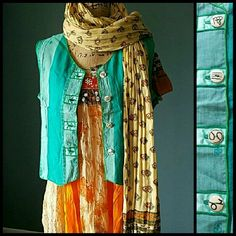 Teal Vest w Carved Buttons ZODIAC Size Med NWT NIP Awesome one of a one item! Territory Ahead brand. Size Medium. Color: Aqua /Teal /Green. NWT Boho Chic Festival style Vest. Features 4 carved buttons with zodiac signs. Virgo, Aquarius, Cancer,  Capricorn. Different greenish pattern fabric on back panel for added style. NIP. Comes in original packaging. 100% cotton. Made in Indonesia. Hand wash cold or dry clean. Feel free to ask any questions. MAKE ME AN OFFER! FREE GIFT with every…