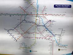 Delhi metro route