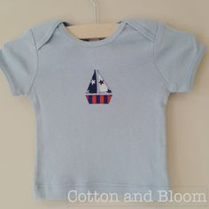 Baby Blue Soft Cotton Short Sleeved TShirt with by CottonandBloom