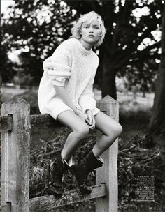 "EDITORIAL: Charlotte Carey | Vogue UK's ""Sole Ambition,"" January '14 | Wilhelmina News - Blog for Wilhelmina Models"