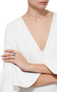 ~ Mussulo Diamond, and Blue Sapphire Ring ~ | by Vanleles | modaoperandi.com