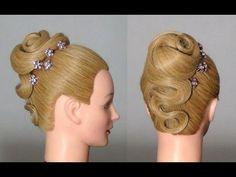Вечерняя прическа на длинные волосы. Evening hairstyle for long hair - YouTube