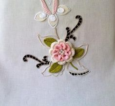 Brooch, Drop Earrings, Embroidery, Blue Ribbon, Monogram Tote, Embroidered Towels, Flower, Needlepoint, Brooch Pin