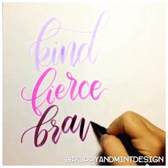"""Sneak peek! Working on new prints for my website's shop... This one will be part of the Charley series.  Quotes that I find that encompass what I hope for her. ❤️ #calligraphyvideo ••• Music by @taylorswift - """"Never Grow Up"""" •••✒️ @tombowusa Dual Brush Pen in No. 603, 665 and 679"""