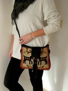 Unique handmade vintage crossover leather by Franellie on Etsy, $94.00