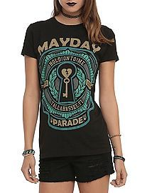 HOTTOPIC.COM - Mayday Parade Hold On Key Girls T-Shirt