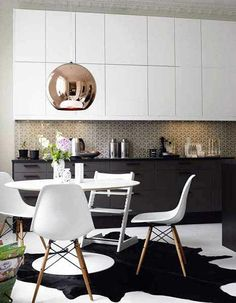 As is this light fixture and rug: | 12 Gorgeous Kitchens That Will Make You Want To Redecorate