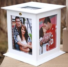 Locking White Wedding Card Box with NO by KellyMarieCollection,Etsy  $62.99