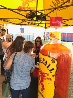 Last chance! Think you can handle the ? Hit up the Fireball Whisky booth for a drink that taste like heaven and burns like hell! #FireballLive #IgniteTheNite
