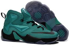 big sale 0bcf4 3fdfc Lebron 13 Green Black For Kids Nike Lebron, Shoes 2017, Shoes Sneakers,  Loafers
