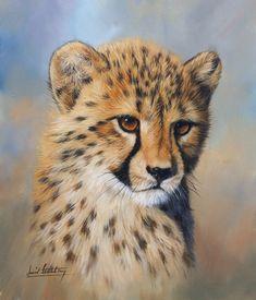 Painting of a cheetah cub by David Stribbling