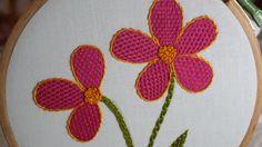 Hand Embroidery Designs | Checkered flower stitch | Stitch and Flower-138