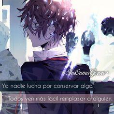 Shu Ouma World - anime phrases anime phrases feelings ShuOumaGcrow Shoujo - Anime Guys, Sad Anime, Otaku Anime, Anime Love, Kawaii Anime, Give Me Strength Quotes, Pain Naruto, Sword Art Online Asuna, Akira Kurusu