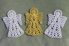 Angel bookmark/decoration - free crochet pattern from Rainbow Junkie