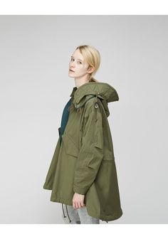 SACAI LUCK | Cape Parka | Shop at La Garçonne