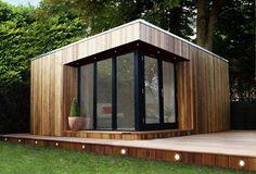 Backyard Office, Garden Office, Backyard Patio, Farm Shed, Shed Cabin, Shed Homes, Kit Homes, Tiny Loft, Shed Construction