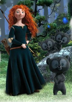 Brave - possibly one of my new fave Disney/Pixar movies! Just watched it the other day and loved it!