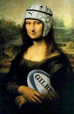 (Rugby Mona Lisa) Proving Rugby Makes Everything a Little Better Rugby League, Rugby Players, Rugby Memes, Rugby Funny, Nrl Memes, Rugby Quotes, Football Quotes, Rugby Sport, Rugby Club