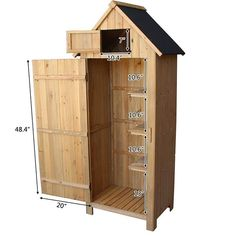 (This is an affiliate pin) Wooden Three-Tier Locker**You can find out more details at the link of the image. #OutdoorStorage Wooden Lockers, Painted Kitchen Tables, Wood Storage Sheds, Wood Arrow, Lawn Furniture, Tool Sheds, Single Doors, Double Doors, Built In Shelves