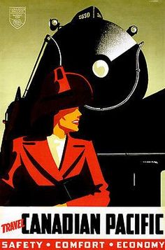 1940's - Travel Canadian Pacific Railroad - Travel Advertising Poster