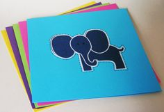 Set of Blank Bright Colored Square Cards with by FindUrHappyPlace, $16.00