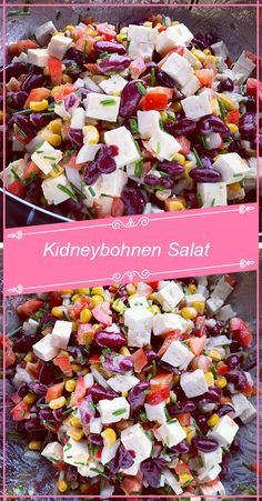 Best salad because I could eat it every day so delicious it is kidney bean sala … – Salat Easy Salads, Easy Meals, Cottage Cheese Salad, Salad Menu, Maila, Kidney Beans, Food For A Crowd, Healthy Salad Recipes, Clean Eating