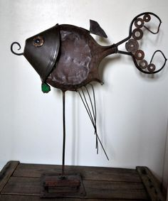 kkrynicki 6245224 DSC 7047 Poetic scrapgirl in metals art with Woman welding Scrap Recycled iron fine Dog cool Cat Bird Art Animal