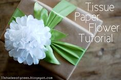 33 Shades of Green: Tissue Paper Flower Tutorial