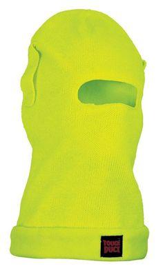 Tough Duck Fleece Lined Balaclava - yellow Snowboarding Gear, Balaclava, Yellow, Gold