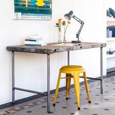 Industrieller Schreibtisch von PURE Wood Design auf DaWanda.com