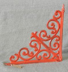 metal shelf brackets  decorative brackets  by juxtapositionsc, $28.00/ love this style for kitchen bookshelves.
