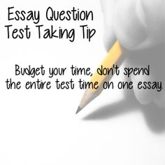 list four tips for taking an essay test The writing test cannot be taken without first taking all four multiple-choice tests in the same session you are asked to read the prompt and write an essay in which you develop your own perspective on the issue your essay should analyze the relationship between your perspective and one or more.