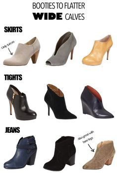Style for wide / athletic / large / well-endowed calves. Booties that flatter!