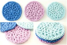 Reusable Crochet Face Scrubbies - Dabbles & Babbles